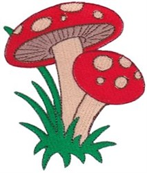 Leprechauns Mushrooms embroidery design
