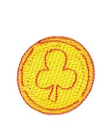 Gold Coin embroidery design