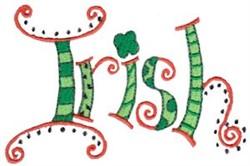 Decorative Irish embroidery design