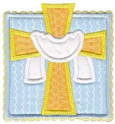 Easter Cross Applique embroidery design
