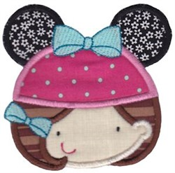Little Girl With Mouse Ears embroidery design