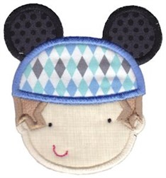 Little Boy & Mouse Ears embroidery design