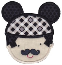 Applique Dad & Mouse Ears embroidery design