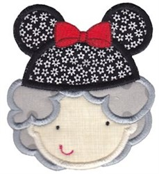 Grandma With Mouse Ears embroidery design