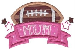 Football Mum embroidery design