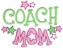 Coach Mom embroidery design