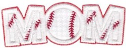 Baseball Mom Applique embroidery design