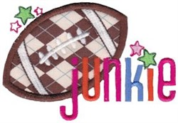 Football Junkie embroidery design