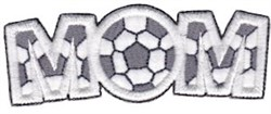 Soccer Mom Applique embroidery design