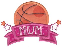 Basketball Mum embroidery design