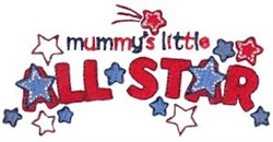 Mommys Little All Star embroidery design