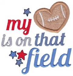 Football Love embroidery design