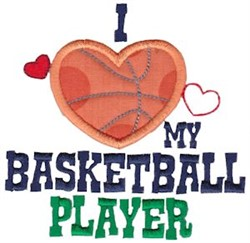 Love My Basketball Player embroidery design