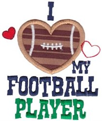 Love My Football Player embroidery design