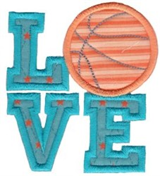 Basketball Love Applique embroidery design