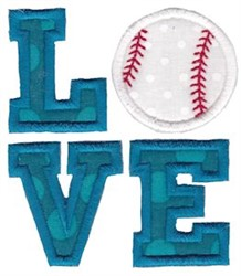 Baseball Love Applique embroidery design