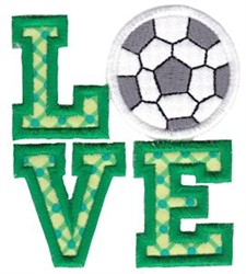 Soccer Love Applique embroidery design