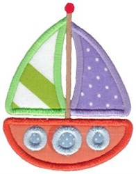 Sail Boat Applique embroidery design