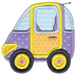 Smart Car Applique embroidery design