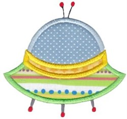 UFO Applique embroidery design
