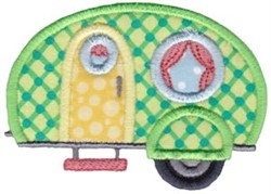 Camper Applique embroidery design