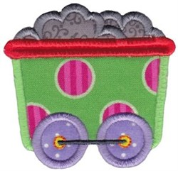 Train Car Applique embroidery design
