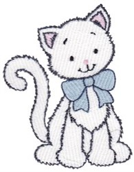 Dressed Up Kitten embroidery design