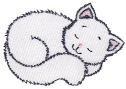 Napping Kitten embroidery design