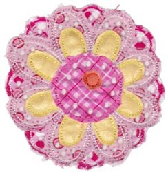 Ragged Flower Applique embroidery design
