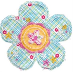 Ragged Daisy Applique embroidery design