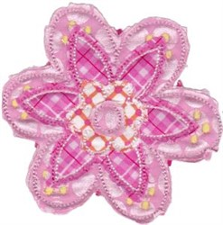 Ragged Applique Flower embroidery design