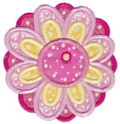 Cute Flower Applique embroidery design