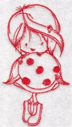 Redwork Wren & Cookie embroidery design