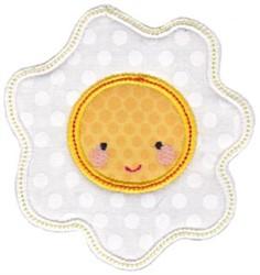 Kawaii Applique Egg embroidery design
