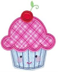 Kawaii Applique Cupcake embroidery design