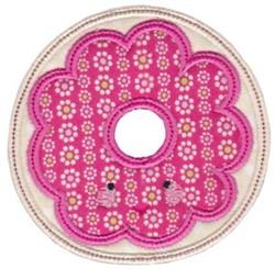 Kawaii Applique Donut embroidery design