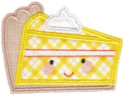 Kawaii Lemon Pie Applique embroidery design