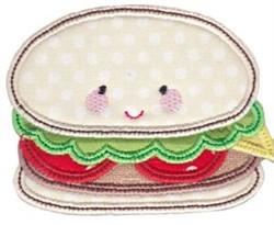 Kawaii Applique Sandwich embroidery design