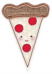 Kawaii Applique Pizza Slice embroidery design