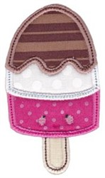 Kawaii Applique Ice Cream embroidery design
