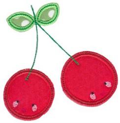 Kawaii Applique Cherries embroidery design