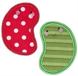 Kawaii Applique Beans embroidery design