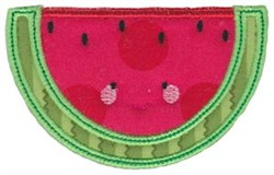 Kawaii Applique Watermelon Slice embroidery design