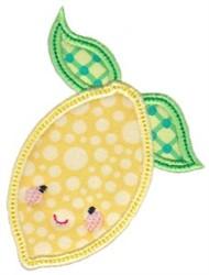 Kawaii Applique Lemon embroidery design