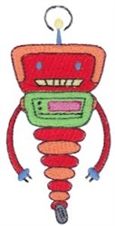 Red Zotbot Robot embroidery design