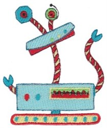 Silly Zotbot Robot embroidery design