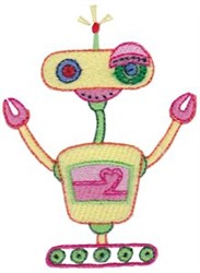 Cute Zotbot Robot embroidery design