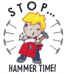 Stop...Hammer Time! embroidery design