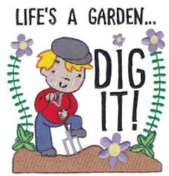Lifes A Garden embroidery design