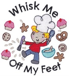 Whisk Me Off My Feet! embroidery design